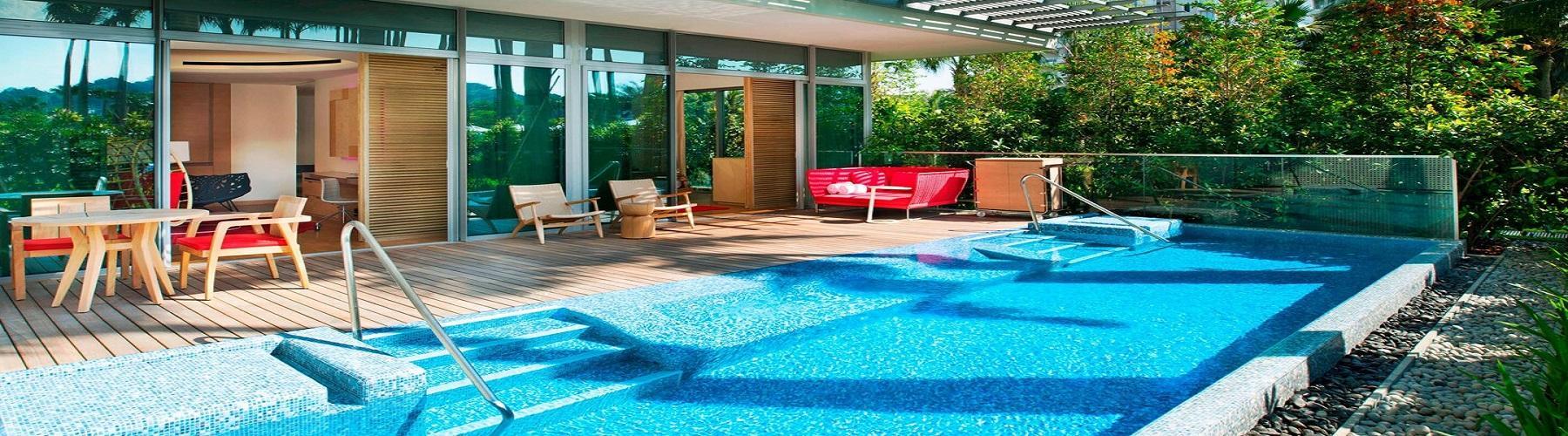 Номер с бассейном в Сингапуре в отеле W Singapore Sentosa Cove